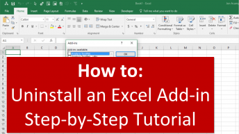 How to Uninstall Excel Add-in Youtube Thumb 1280x720