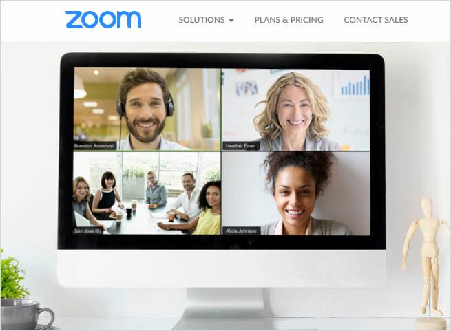 Virtual meeting with Zoom Meetings Service
