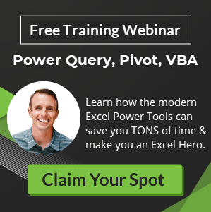 Free Excel Training Webinar Modern Power Tools