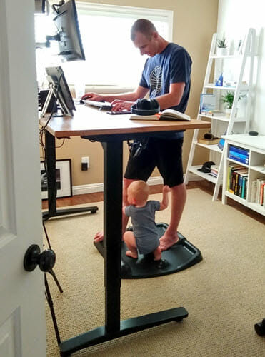 Standing Desk Keeps Toddlers From Getting Your Stuff