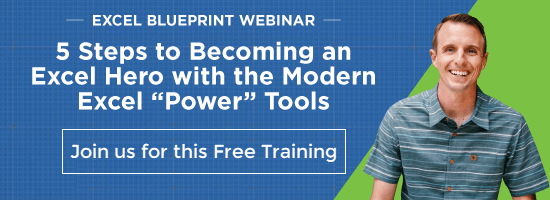 Modern Excel Blueprint Training Webinar Excel Campus Jon Acampora