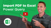 Import PDF with Power Query