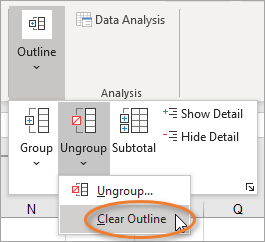Clear Outline feature