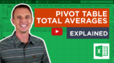 Pivot Table Average in Total Row Explained