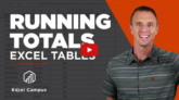 Running Totals Excel Tables
