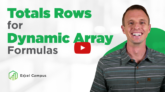 Total Rows for Dynamic Array Formulas and Spill Ranges in Excel