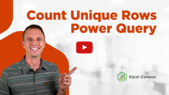 Unique Rows with Power Query