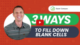 3 Ways to Fill Down Blank Cells