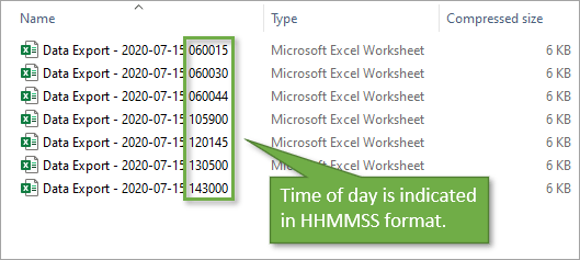 File naming description followed by date followed by time