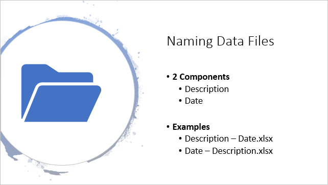 Naming Data Files - 2 Components for Sorting and Organizing