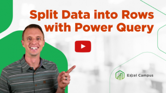 Split into Rows with Power Query