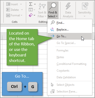 Go To Window Keyboard Shortcut