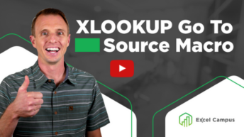 XLOOKUP Go To Source Macro