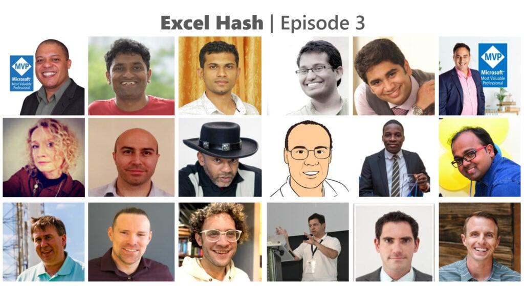 Excel hash participants