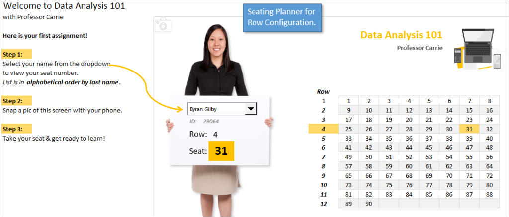 Seating Planner for Row Configuration