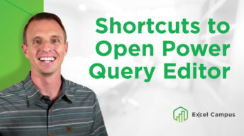 Shortcuts to Open Power Query