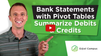 Analyze Bank Statements with Pivot Tables