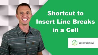 Shortcut For Line Breaks in a Cell