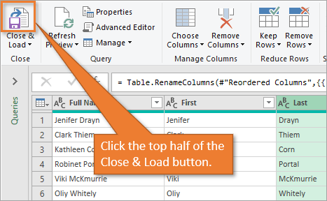 Close and Load Button