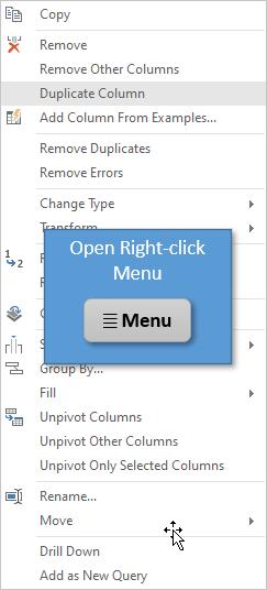 Open right-click menu