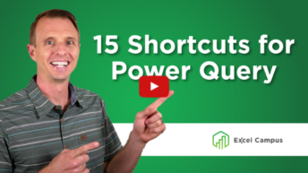 Power Query Shortcuts