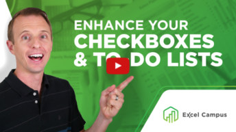 Enhance Your Checkboxes & To-do Lists with Conditional Formatting in Excel
