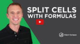 How to Split Text in Cells Using Formulas