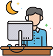 Working Late Icon
