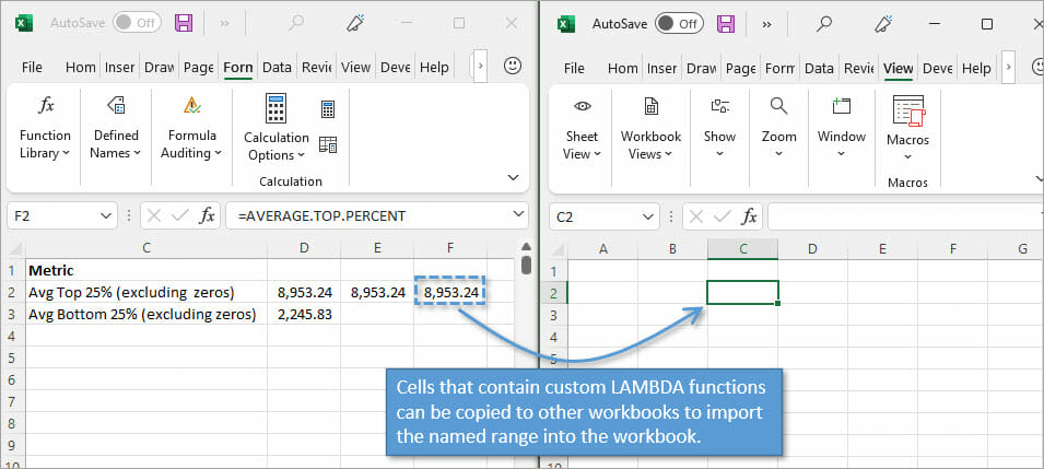Copy Lambda Functions to other workbooks