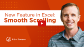 Excel Update Smooth Scrolling Rows and Columns